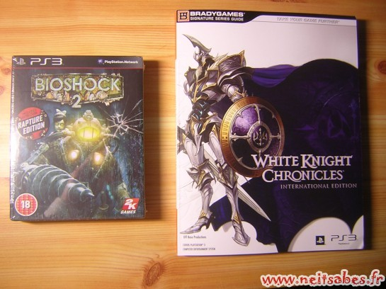 C'est arrivé ! - Bioshock 2 Rapture Edition & Guide White Knight CHronicles (PS3)