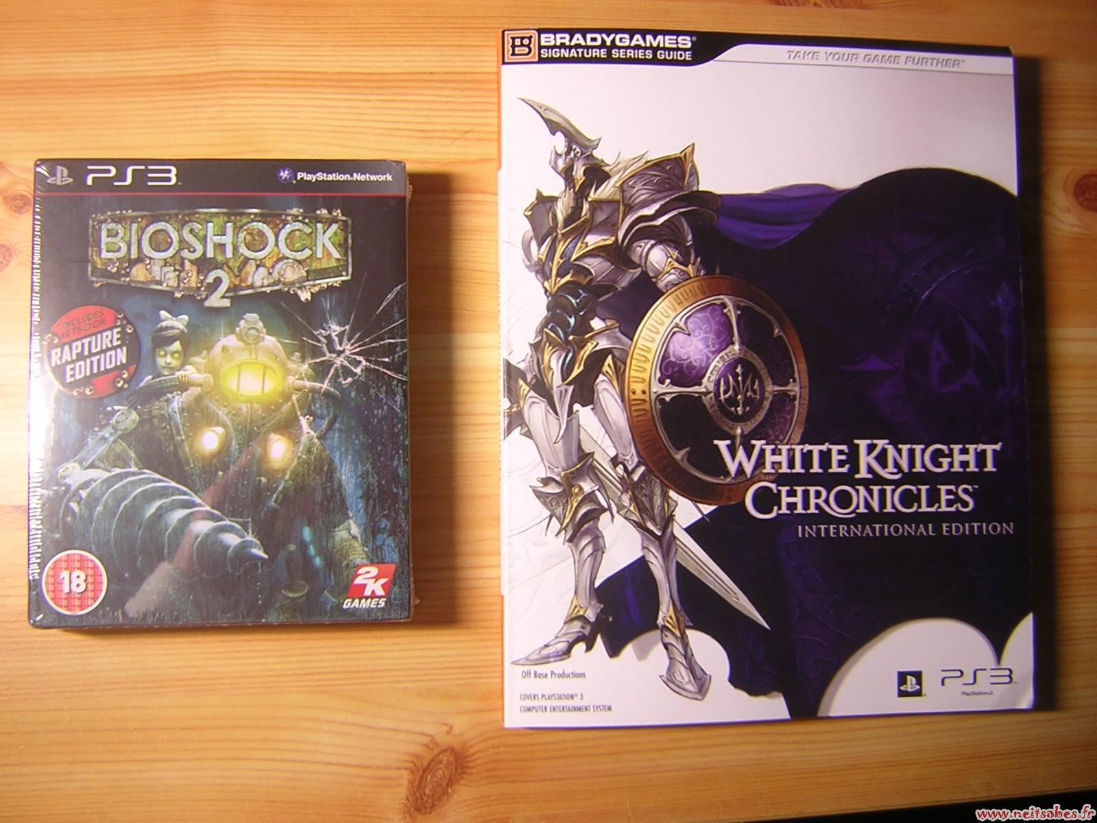C'est arrivé ! - Bioshock 2 Rapture Edition & Guide White Knight CHronicles (PS3)