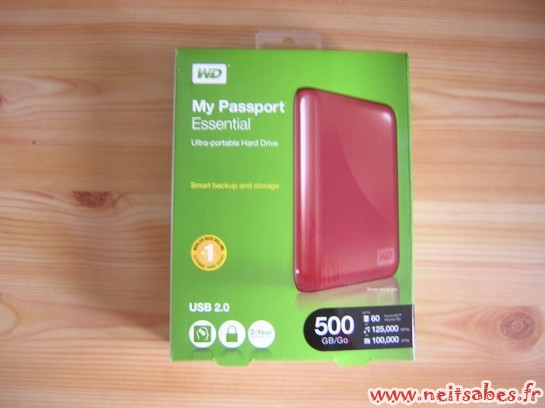 C'est arrivé ! - Western Digital My Passport Essential 500Gb