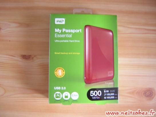 C'est arrivé ! - Western Digital My Passport Essential 500Gb