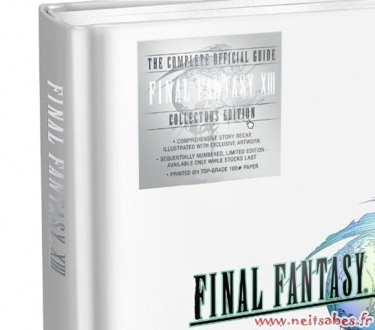 Pré-commande - Guide Final Fantasy XIII Édition Collector