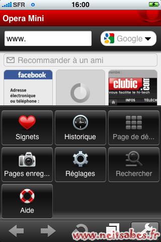 Test - Opéra Mini (Iphone / Ipod Touch / (Ipad ?))