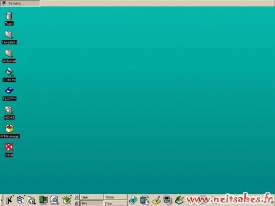 L'évolution de l'interface de Gnome et KDE - KDE 1.0