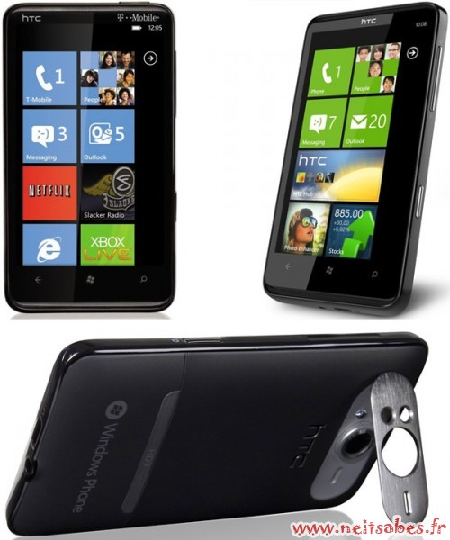 HTC HD7 (Windows Phone) ou HTC Desire HD (Android)