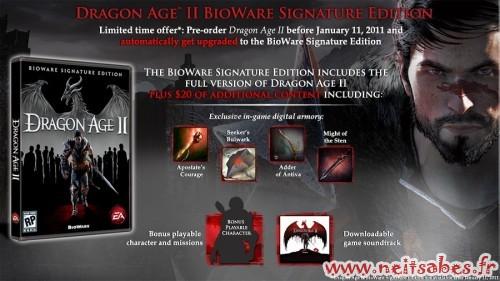 Dragon Age 2 (PC PS3 X360) : l'édition Signature au prix de la standard !