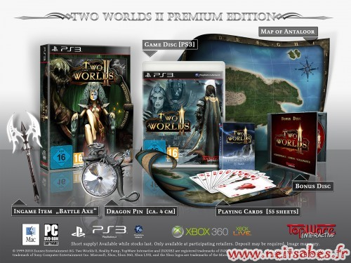 Two Worlds 2 Royal Edition et Édition Premium collector (PC PS3 Xbox360)