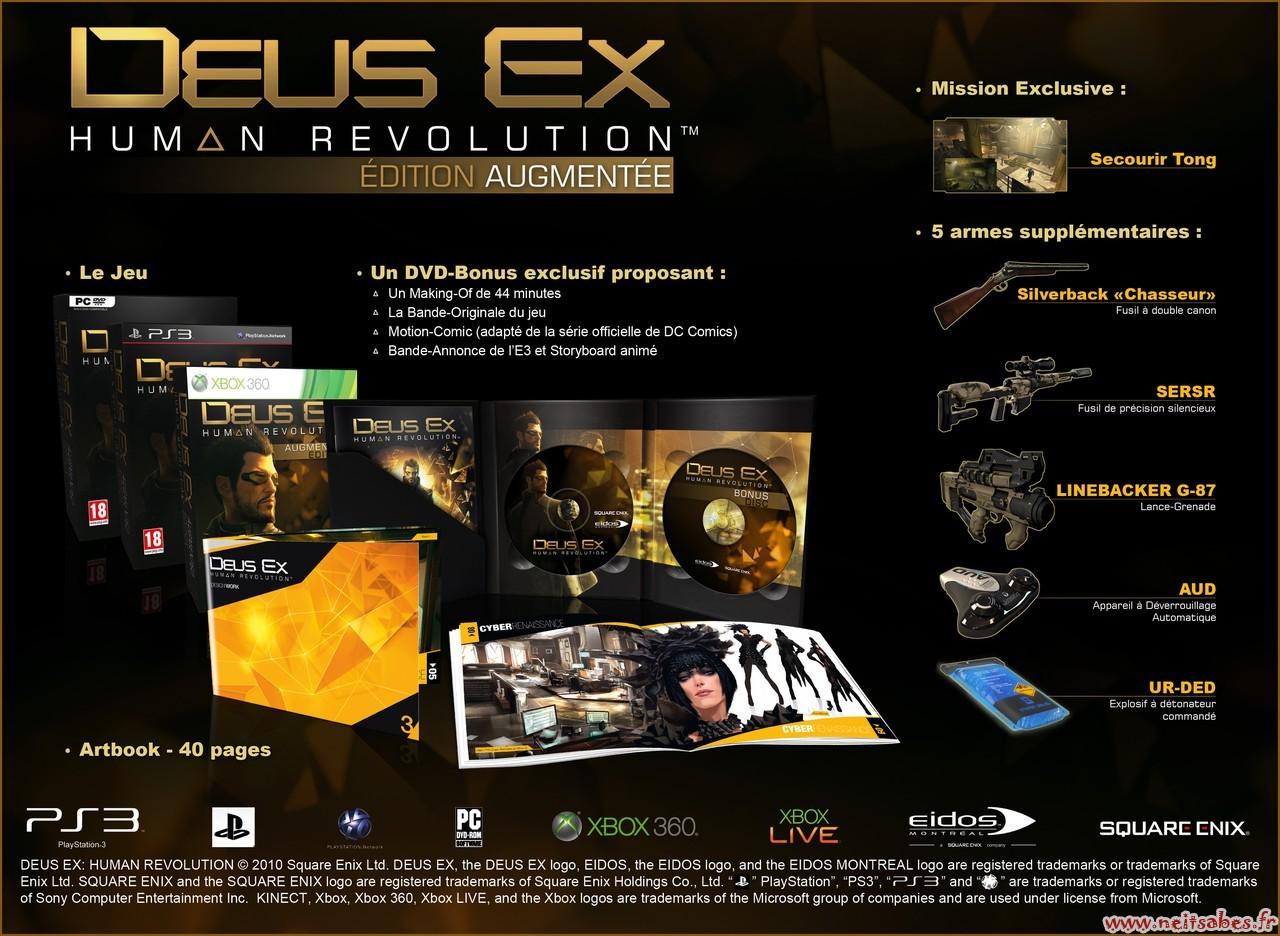 Deus Ex Human Revolution édition collector (édition augmentée) annoncée