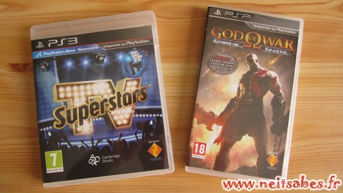 C'est arrivé ! - TV Superstars (PS3) & God Of War Ghost Of Sparta (PSP)