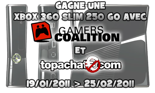 Gagne ta Xbox 360 sur Gamers-Coalition !