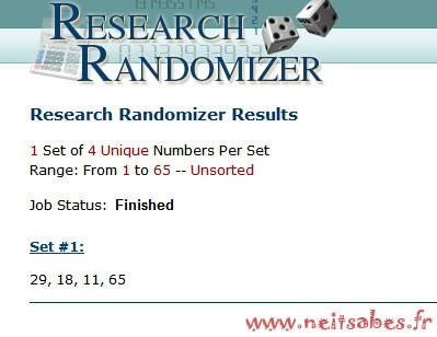 Résultat du concours #5