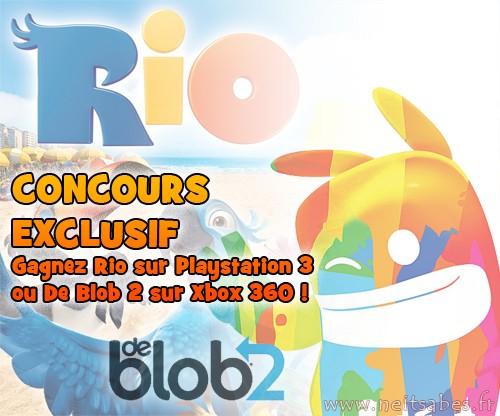 Concours #6 - Gagne Rio sur PS3 ou De Blob 2 sur Xbox 360 !