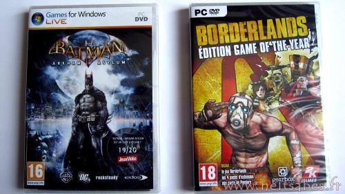 C'est arrivé ! - Borderlands GOTY & Batman Arkham Asylium (PC).