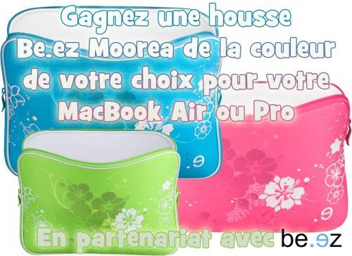 Concours #7 - Gagnez une housse Be.ez Moorea Green pour MacBook Air ou Pro