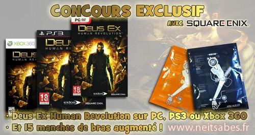 """Concours #8 - Deus Ex Human Revolution et des manches """"bras augmenté"""" à gagner !"""