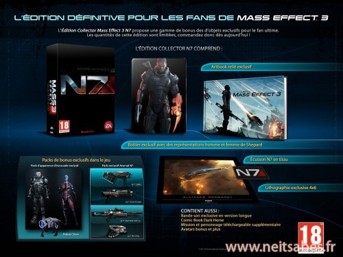 Mass Effect 3 Collector N7 disponible en précommande !