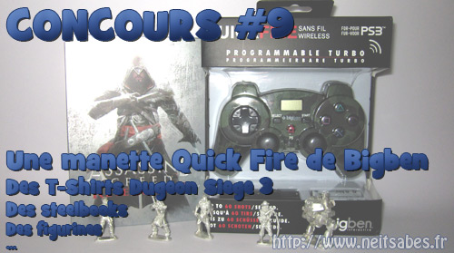 Concours #9 - Manette Bigben Quickfire, Steelbook Assassin's Creed Revelations et j'en passe ...