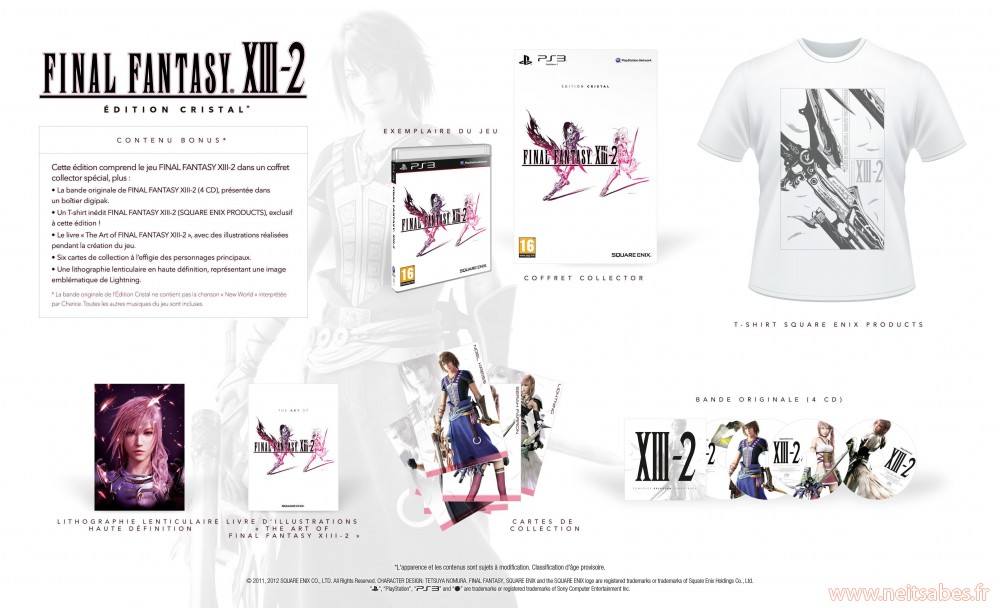Pré-commande - Final Fantasy XIII-2 Édition Crystal Collector (PS3)