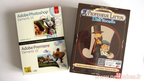 Achat - Professeur Layton et la Diva Eternel Blu-Ray collector & Adobe Photoshop+Premiere Elements 10