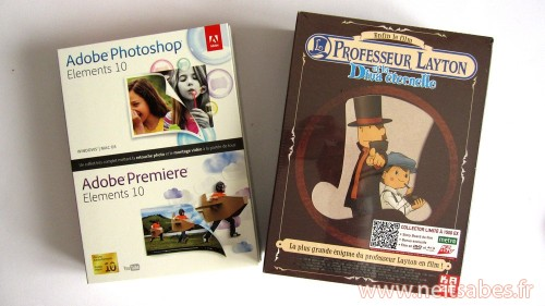Achat - Professeur Layton et la Diva Eternel Blu-Ray collector & Adobe Photoshop+Premiere Elements 10