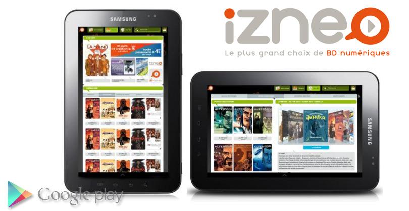 Izneo sur tablettes Android : c'est maintenant !
