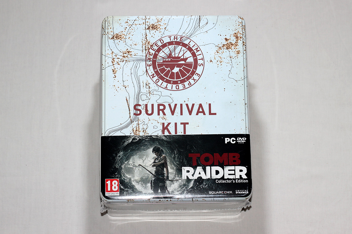 Déballage - Tomb Raider édition collector Survival Kit (PC) (1)