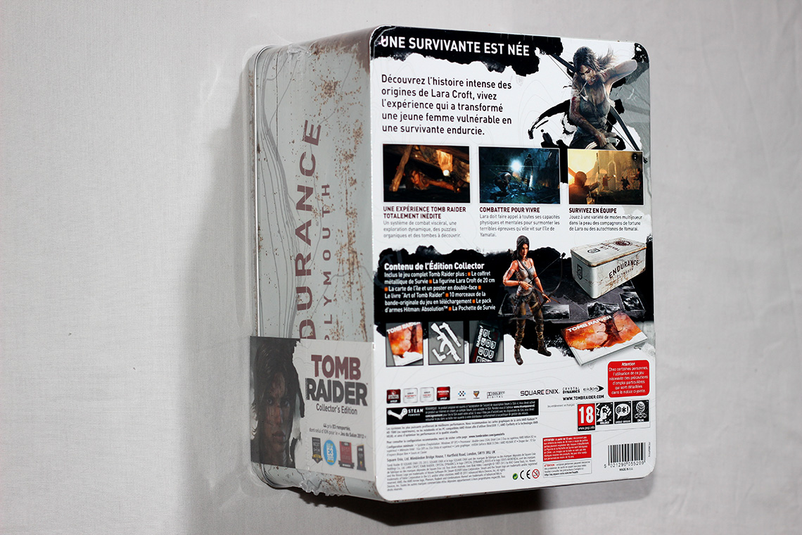 Déballage - Tomb Raider édition collector Survival Kit (PC) (2)