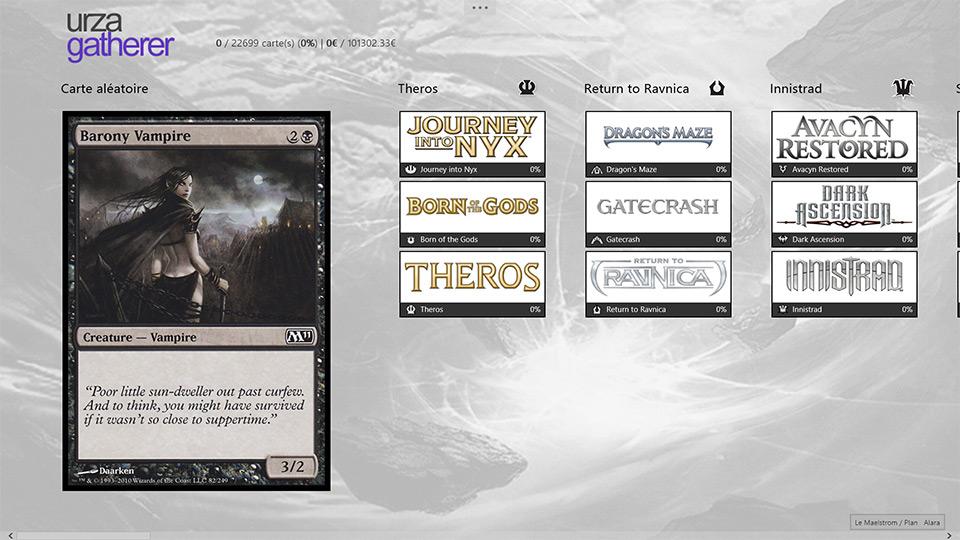 Gérez vos cartes Magic L'assemblée avec UrzaGatherer sur Windows 8. (2)