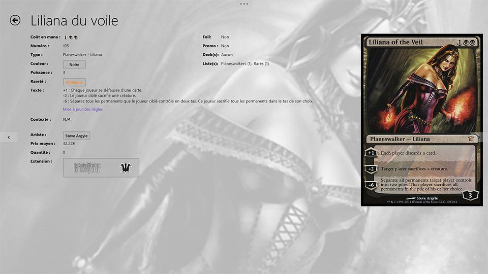 Gérez vos cartes Magic L'assemblée avec UrzaGatherer sur Windows 8. (3)