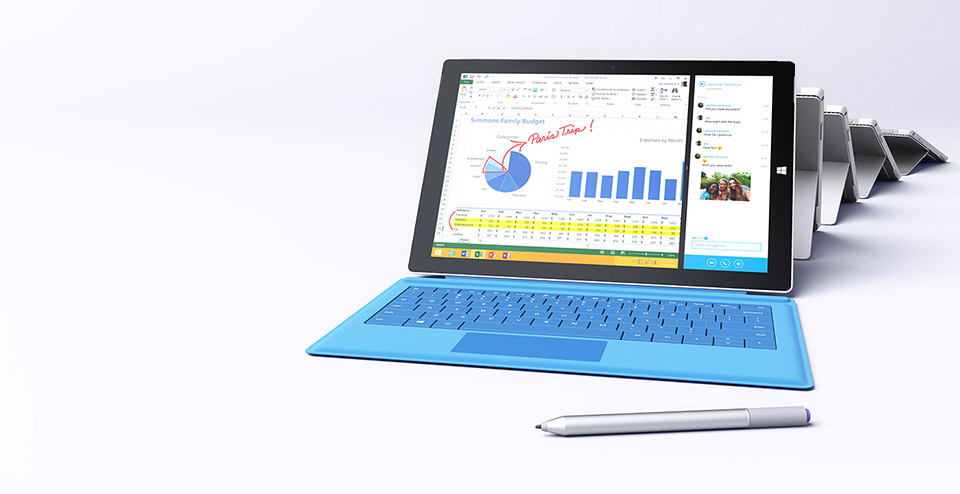 Microsoft Surface Pro 3  Microsoft veut concurrencer les laptops
