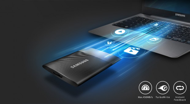 Samsung T1 Samsung lance de très petits SSD portables de 250 Go à 1 To